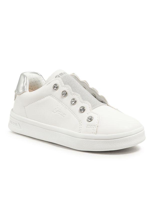 Geox - Sneakersy GEOX - J Djrock G. A J154MA 000BC C1000 S White. Okazja: na uczelnię, na spacer. Zapięcie: bez zapięcia. Kolor: biały. Materiał: skóra