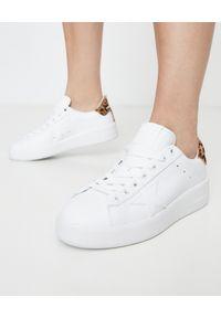 GOLDEN GOOSE - Białe sneakersy Pure Star. Kolor: biały. Materiał: jeans, guma. Wzór: gładki, aplikacja