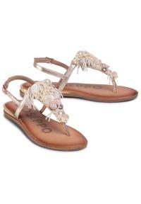 Złote sandały Gioseppo casualowe, z aplikacjami