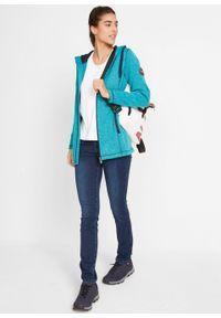 Bluza rozpinana z polaru bonprix ciemnoturkusowy melanż. Kolor: niebieski. Materiał: polar. Wzór: melanż