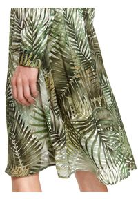 Zielona sukienka TOP SECRET z nadrukiem, koszulowa