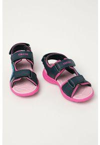 Niebieskie sandały Geox na rzepy, gładkie #4