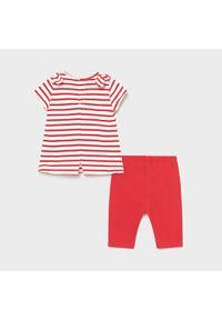Mayoral Komplet bluzka i legginsy 1712 Czerwony Regular Fit. Kolor: czerwony