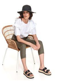 TOP SECRET - Słomkowy kapelusz damski. Kolor: czarny. Sezon: lato. Styl: wakacyjny, elegancki