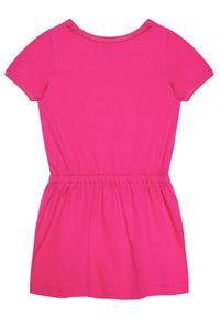 Różowa sukienka Polo Ralph Lauren polo, na co dzień