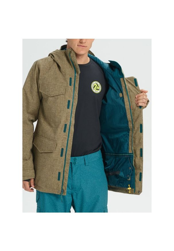 Zielona kurtka zimowa Burton