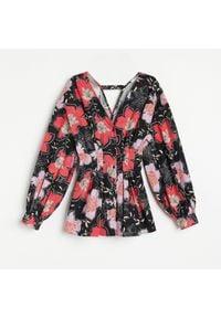 Reserved - Bawełniana koszula w kwiaty - Wielobarwny. Materiał: bawełna. Wzór: kwiaty