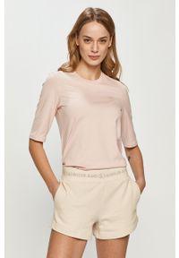 Różowa bluzka Lacoste casualowa, gładkie, na co dzień