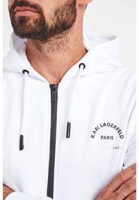 Karl Lagerfeld - BLUZA KARL LAGERFELD. Typ kołnierza: kaptur. Długość rękawa: długi rękaw. Długość: długie. Wzór: napisy