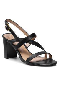 Czarne sandały Lauren Ralph Lauren