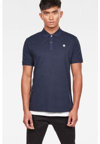 Niebieska koszulka polo G-Star RAW polo, krótka