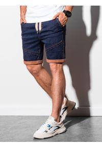 Fioletowe szorty Ombre Clothing z aplikacjami, krótkie