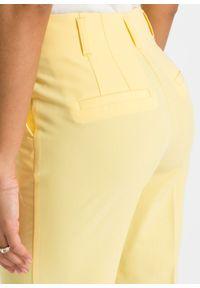 Żółte spodnie bonprix melanż