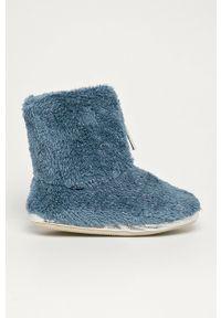 Flip*Flop - Kapcie Yeti II. Nosek buta: okrągły. Kolor: niebieski. Materiał: guma