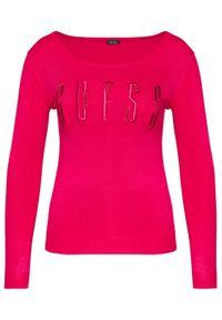 Różowy sweter klasyczny Guess #5
