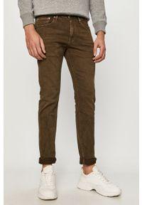 Zielone spodnie Pepe Jeans na co dzień, casualowe