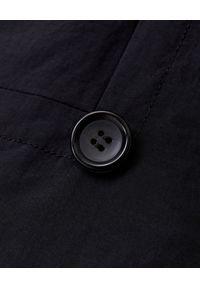 COMME des GARCONS - COMME DES GARCONS - Dwurzędowy płaszcz puchowy z kapturem. Typ kołnierza: kaptur. Kolor: czarny. Materiał: puch. Sezon: zima. Styl: elegancki
