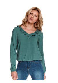 Zielona bluzka TOP SECRET gładkie