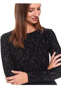 Czarny sweter TOP SECRET z aplikacjami, na jesień