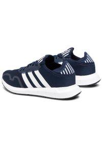 Niebieskie buty sportowe Adidas do biegania, z cholewką