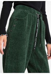 Zielone spodnie bonprix militarne