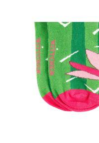 Wittchen - Damskie skarpetki w zabawny wzór. Kolor: zielony, różowy, wielokolorowy. Materiał: bawełna