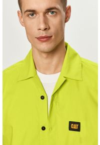 CATerpillar - Caterpillar - Koszula. Okazja: na co dzień. Kolor: żółty, zielony, wielokolorowy. Materiał: tkanina. Długość rękawa: krótki rękaw. Długość: krótkie. Wzór: gładki. Styl: klasyczny, casual #1
