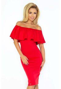 Czerwona sukienka Numoco ołówkowa