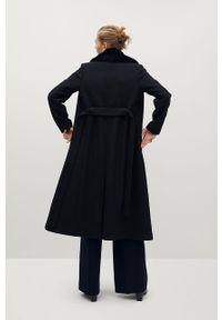 Czarny płaszcz mango bez kaptura, na co dzień, klasyczny