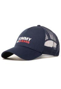 Tommy Jeans Czapka z daszkiem Tjm Logo Trucker Cap AM0AM07017 Granatowy. Kolor: niebieski