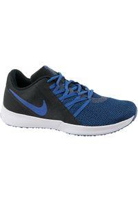 Niebieskie buty treningowe Nike w kolorowe wzory, z cholewką