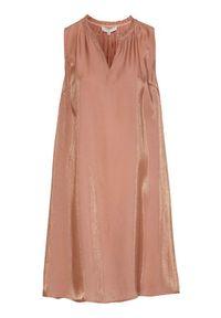 Cream Sukienka bez rękawów Cecilie różowy kolor złota female różowy/żółty/pomarańczowy 36. Kolor: pomarańczowy, różowy, żółty, wielokolorowy. Materiał: tkanina. Długość rękawa: bez rękawów