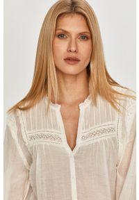 Pepe Jeans - Koszula Albertina. Okazja: na co dzień. Kolor: biały. Materiał: tkanina. Długość rękawa: długi rękaw. Długość: długie. Wzór: gładki. Styl: casual