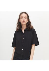 Czarna koszula Reserved krótka, z krótkim rękawem