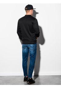 Czarna bluza Ombre Clothing sportowa, bez kaptura