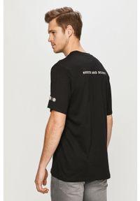 Czarny t-shirt Element casualowy, z motywem z bajki, na co dzień