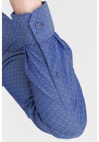 Niebieska koszula Armani Exchange casualowa, na spotkanie biznesowe
