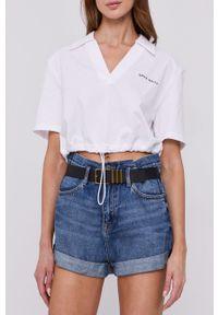 Miss Sixty - Szorty jeansowe. Okazja: na co dzień. Stan: podwyższony. Kolor: niebieski. Materiał: jeans. Styl: casual