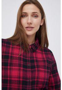 Wrangler - Koszula bawełniana. Kolor: różowy. Materiał: bawełna. Długość rękawa: długi rękaw. Długość: długie