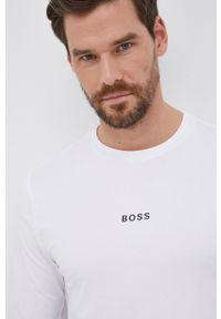 BOSS - Boss - Longsleeve Boss Casual. Okazja: na co dzień. Kolor: biały. Długość rękawa: długi rękaw. Wzór: nadruk. Styl: casual