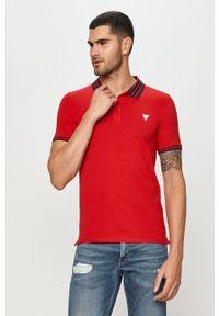 Czerwona koszulka polo Guess Jeans krótka, polo