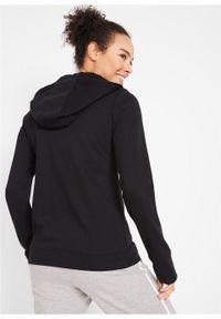Bluza rozpinana, długi rękaw bonprix czarny. Kolor: czarny. Długość rękawa: długi rękaw. Długość: długie