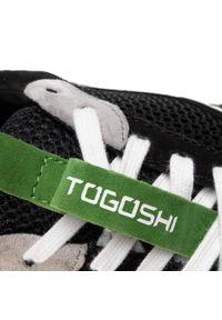 Czarne półbuty Togoshi z cholewką, casualowe, na co dzień