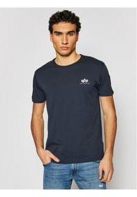 Alpha Industries T-Shirt Basic T Small Logo 188505 Granatowy Regular Fit. Kolor: niebieski
