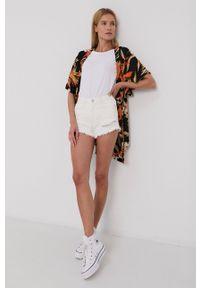 TALLY WEIJL - Tally Weijl - Szorty jeansowe. Kolor: biały. Materiał: jeans. Wzór: gładki