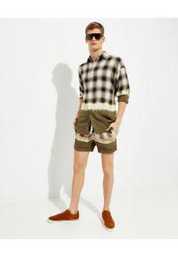 PALM ANGELS - Koszula w kratę. Typ kołnierza: kołnierzyk klasyczny. Kolor: zielony. Materiał: materiał. Długość rękawa: długi rękaw. Długość: długie. Wzór: aplikacja. Styl: klasyczny