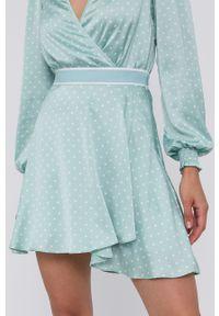 Guess - Spódnica. Kolor: zielony. Materiał: tkanina, poliester