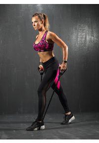 Różowy biustonosz sportowy FJ! push-up, na fitness i siłownię