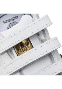 Białe półbuty Adidas z cholewką, na rzepy