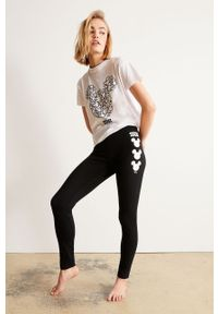 Czarne legginsy Undiz z nadrukiem